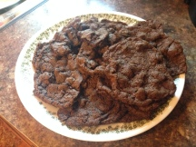 Chocolate chip cookies made with acorn flour